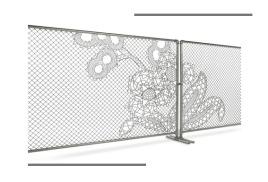 Декорирование сетки рабицы